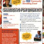 Shredding for Literacy – Free Community Shredding Event!