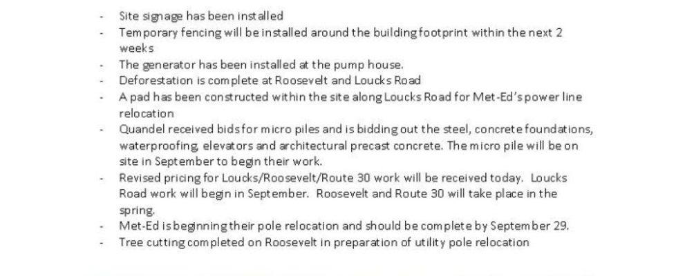 Pinnacle Memorial Hospital Construction Site Update August