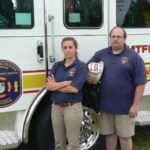 Fire Department Staff with Truck