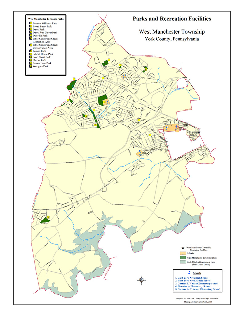 West Manchester Township Park Map
